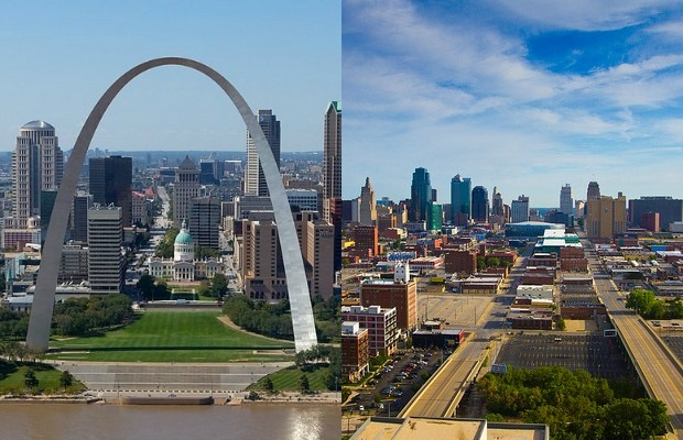 St. Louis and Kansas City, Missouri
