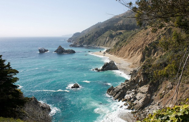 Julia Pfeiffer Burns State Park in Big Sur, California