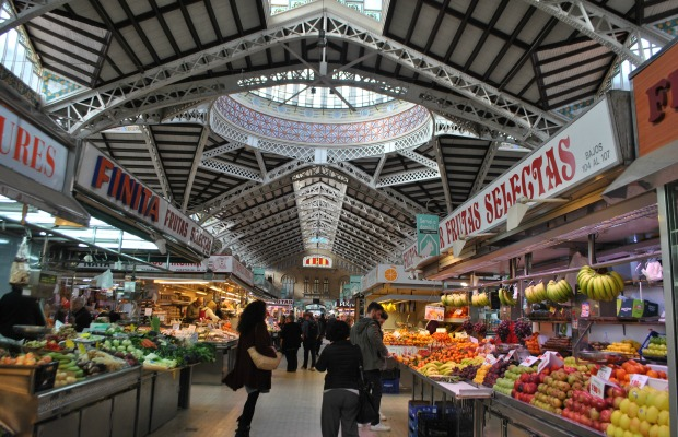 Central Market in Valencia, Spain