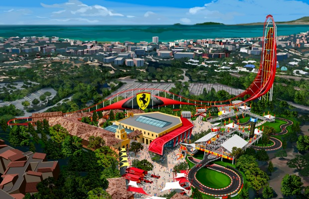 Rendering of Ferrari Land in Spain