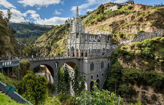Las Lajas Sanctuary in Colombia