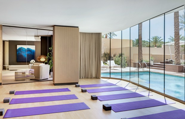 Spa yoga studio at Red Rock Casino Resort & Spa