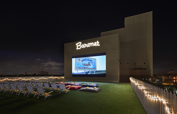 Rooftop films at the Baronet/The Asbury hotel