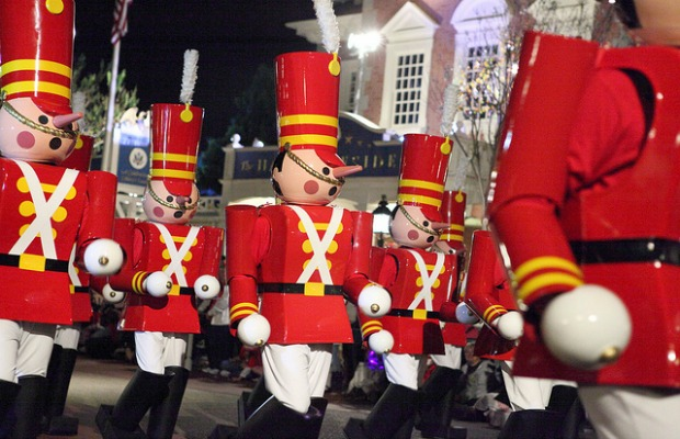 Toy soldiers at the Magic Kingdom in Orlando, Florida