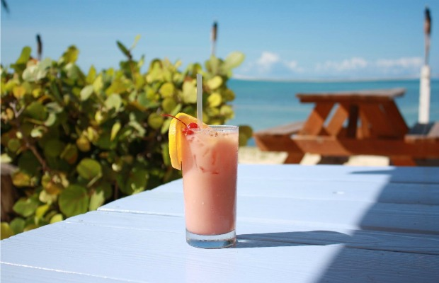 Rum smoothie Anegada Reef Hotel in the British Virgin Islands