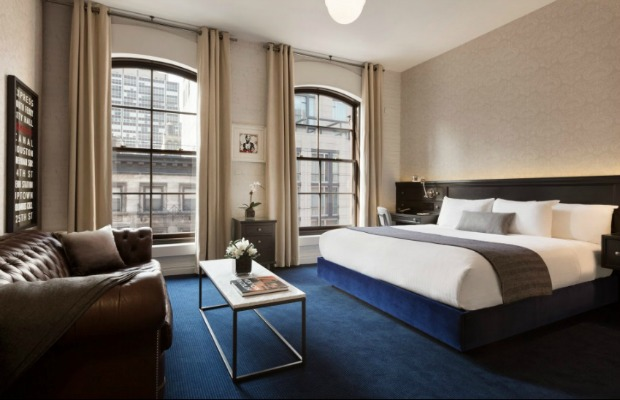 Junior suite at The Cosmopolitan Hotel New York Tribeca