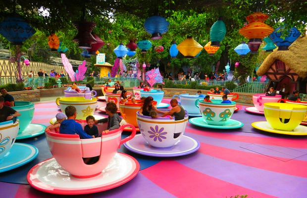 Mad Tea Party at Disneyland in Anaheim, California