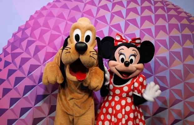 Pluto and Minnie Mouse at Epcot