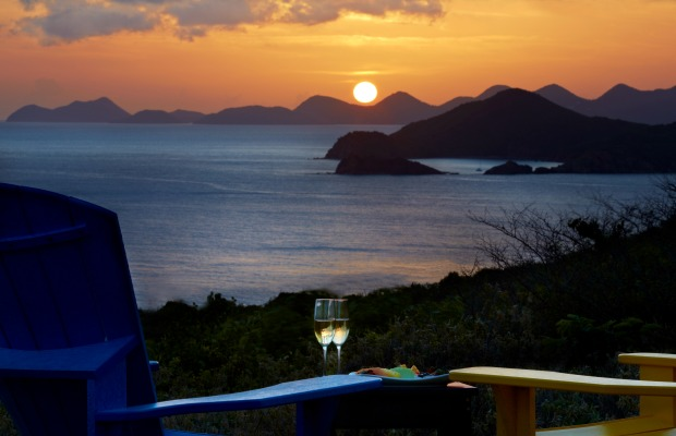 Sunset on Peter Island in the BVI