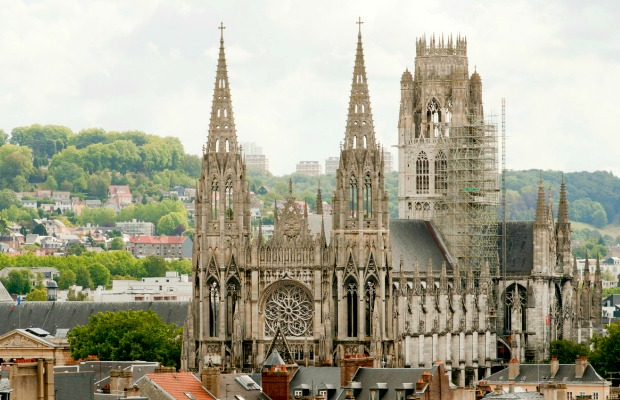 Rouen, France, cathedral