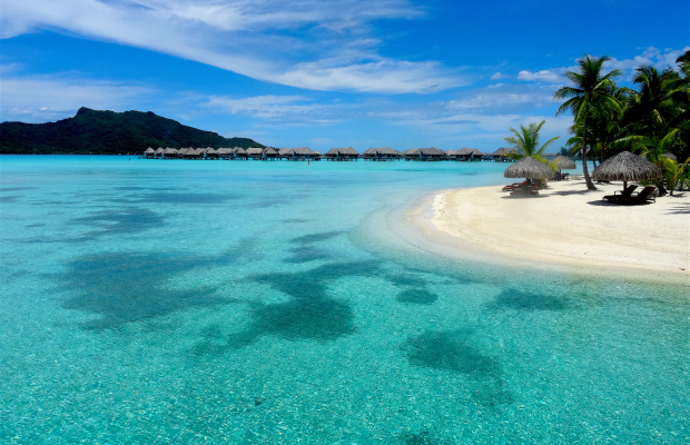 Bora Bora Resort Beach by Donna Heiderstadt