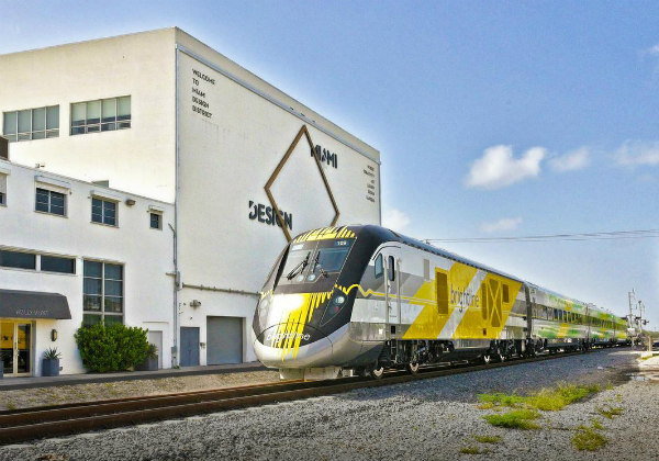 Miami, Florida, Brightline train