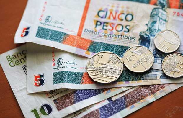 Cuban currency: Convertible Peso notes and coins
