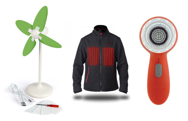 usb powered travel accessories - fan, heated jacket, cleanser brush