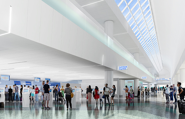 LAX Terminal 1 rendering, courtesy Southwest Airlines