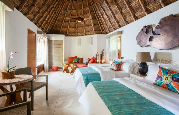 Guestroom at Mahekal Beach Resort in Mexico