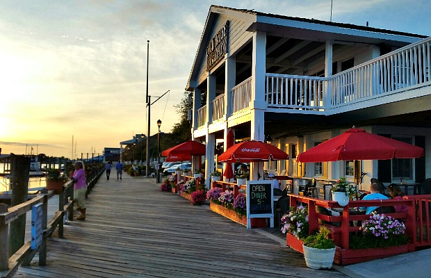 Boardwalk in Beaufort, North Carolina