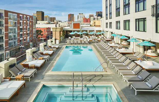 Rooftop Pool at The Pendry San Diego